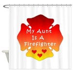 Firefighter Aunt Shower Curtain