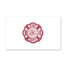 Firefighter Baby Car Magnet 20 x 12