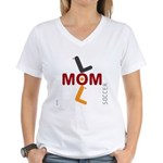 OYOOS Soccer Mom design Women's V-Neck T-Shirt
