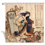 Hokusai Strong Oi Pouring Sake Shower Curtain