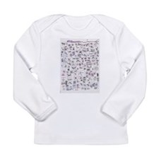 Cute Womens v neck Long Sleeve Infant T-Shirt