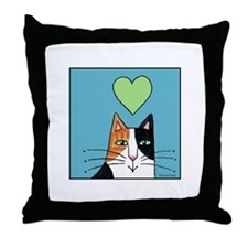CALICO CAT... Whimsical Throw Pillow