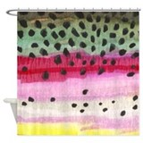 Rainbow Trout Skin Shower Curtain