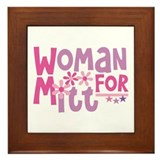 Woman FOR Romney Framed Tile