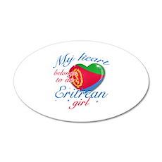 Eritrean Valentine's designs 38.5 x 24.5 Oval Wall