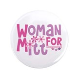 "Woman FOR Romney 3.5"" Button (100 pack)"