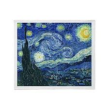 Van Gogh Starry Night Throw Blanket