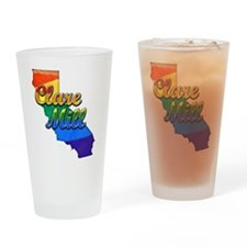 Clare Mill, California. Gay Pride Drinking Glass