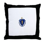 Massachusetts Throw Pillow