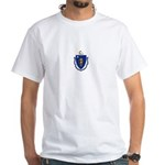 Massachusetts White T-Shirt