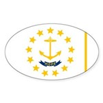 Rhode Island Sticker (Oval 10 pk)