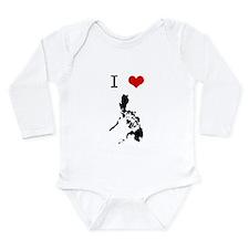 Cute Pina Long Sleeve Infant Bodysuit