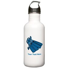Diving Snorkel etc. And Text. Water Bottle