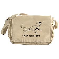 Lizard and Custom Text Messenger Bag