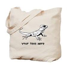 Lizard and Custom Text Tote Bag