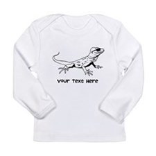 Lizard and Custom Text Long Sleeve Infant T-Shirt