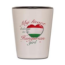 Hungarian Valentine's designs Shot Glass
