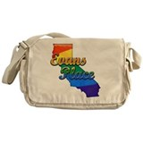 Evans Place, California. Gay Pride Messenger Bag
