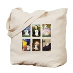 Maltese Famous Art (clr) Tote Bag