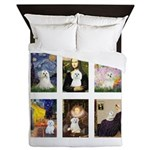 Maltese Famous Art (clr) Queen Duvet