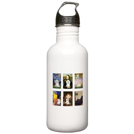 Maltese Famous Art (clr) Stainless Water Bottle 1.
