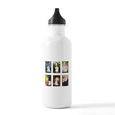 Maltese Famous Art (clr) Water Bottle