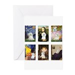 Maltese Famous Art (clr) Greeting Cards (Pk of 10)