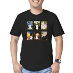 Maltese Famous Art (clr) Men's Fitted T-Shirt (dar
