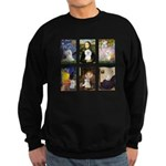 Maltese Famous Art (clr) Sweatshirt (dark)