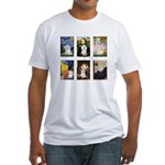Maltese Famous Art (clr) Fitted T-Shirt