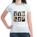 Maltese Famous Art (clr) Jr. Ringer T-Shirt