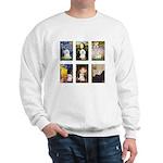 Maltese Famous Art (clr) Sweatshirt