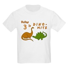 blktbirthdaydinosaursthreedinomite T-Shirt