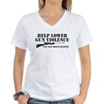 Dad's Gun Violence Women's V-Neck T-Shirt