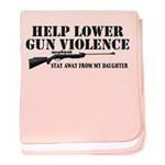 Dad's Gun Violence baby blanket