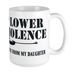 Dad's Gun Violence Large Mug