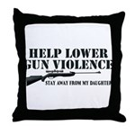 Dad's Gun Violence Throw Pillow