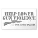 Dad's Gun Violence Sticker (Rectangle)