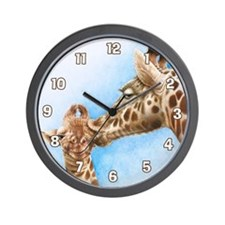 Giraffe and Calf Wall Clock