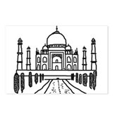 Taj Mahal Postcards (Package of 8)