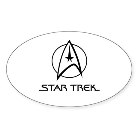 Star Trek Classic Oval Sticker