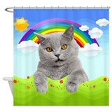 Rainbow Kitty Shower Curtain