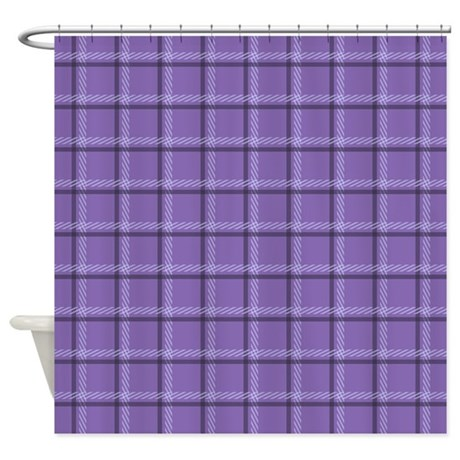 Purple Plaid Shower Curtain