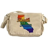 Heath Place, California. Gay Pride Messenger Bag