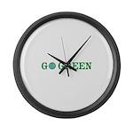 Go Green Merchandise Large Wall Clock