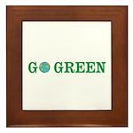 Go Green Merchandise Framed Tile