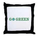 Go Green Merchandise Throw Pillow