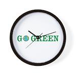 Go Green Merchandise Wall Clock