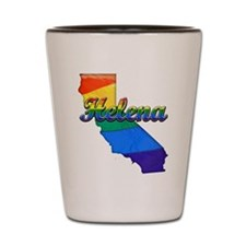 Helena, California. Gay Pride Shot Glass