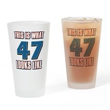 Cool 47 year old birthday designs Drinking Glass